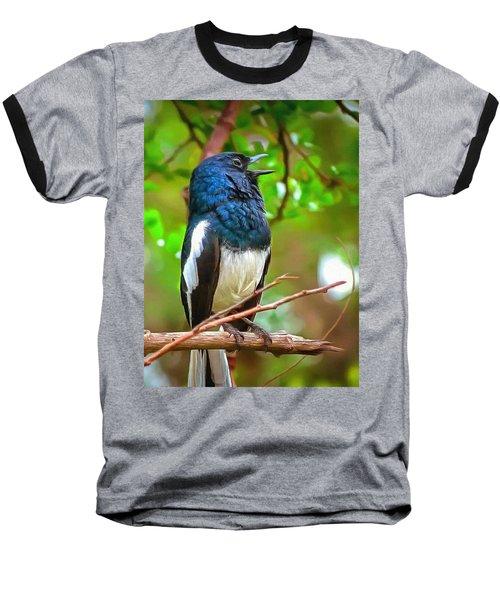 Singing Ceylonese Robin-magpie Baseball T-Shirt