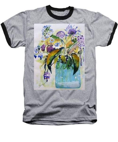 Baseball T-Shirt featuring the painting Singing The Blues by Patti Ferron
