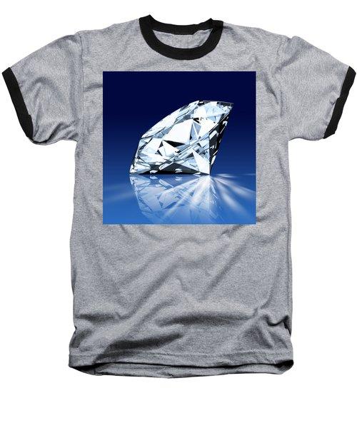 Single Blue Diamond Baseball T-Shirt