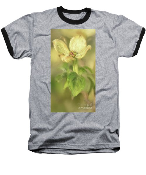 Baseball T-Shirt featuring the digital art Single Dogwood Blossom In Evening Light by Lois Bryan