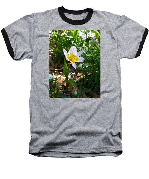 Single Flower - Simplify Series Baseball T-Shirt by Carla Parris