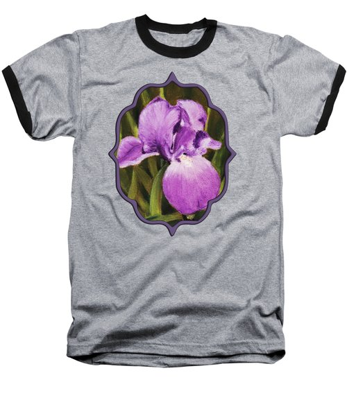 Single Iris Baseball T-Shirt by Anastasiya Malakhova