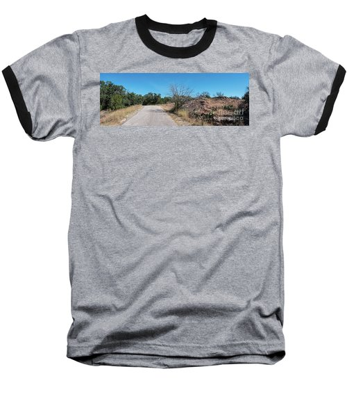 Single Lane Road In The Hill Country Baseball T-Shirt