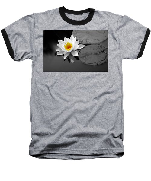 Single Lily Baseball T-Shirt by Shari Jardina