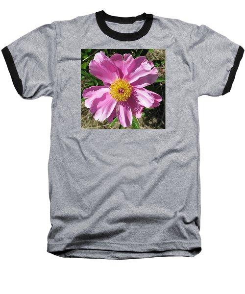 Single Pink Peony Baseball T-Shirt