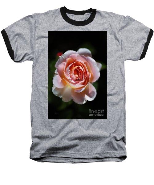 Single Romantic Rose  Baseball T-Shirt