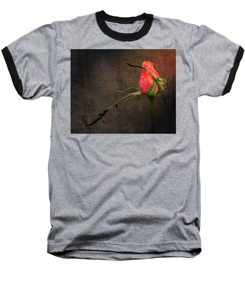 Single Rose Baseball T-Shirt