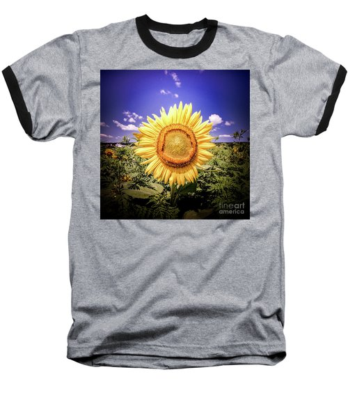 Single Sunflower Baseball T-Shirt