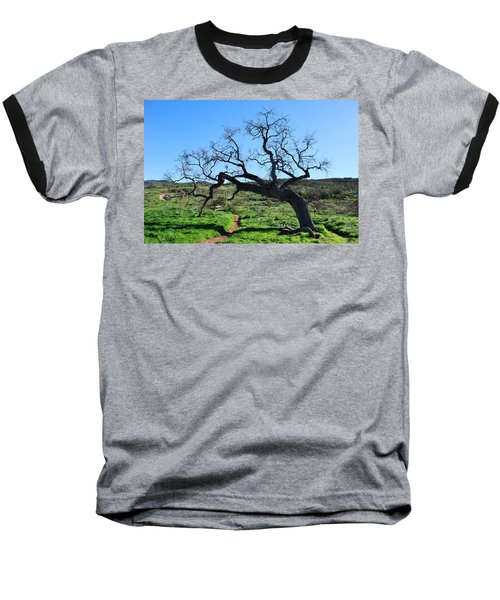 Single Tree Over Narrow Path Baseball T-Shirt