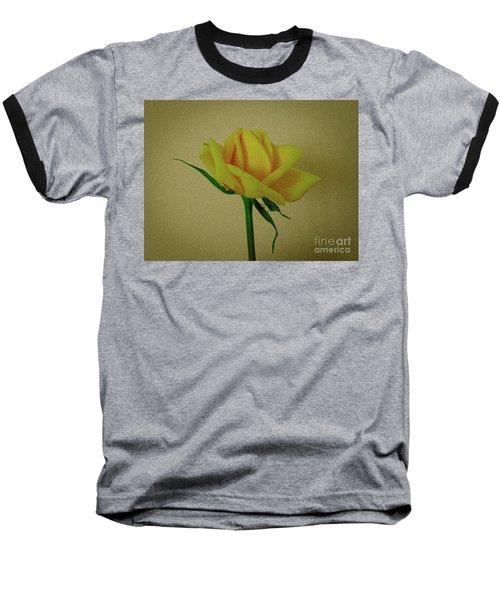 Single Yellow Rose Baseball T-Shirt