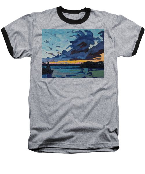 Singleton Sunset Stratocumulus Baseball T-Shirt