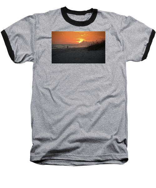 Baseball T-Shirt featuring the photograph Sinking Into The Horizon by Renee Hardison