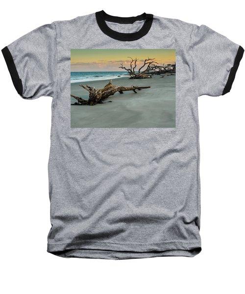 Sunset On Jekyll Island Baseball T-Shirt