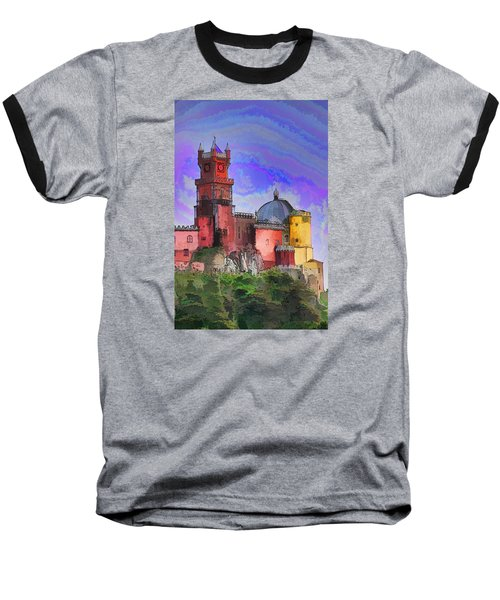 Sintra Palace Baseball T-Shirt by Dennis Cox WorldViews
