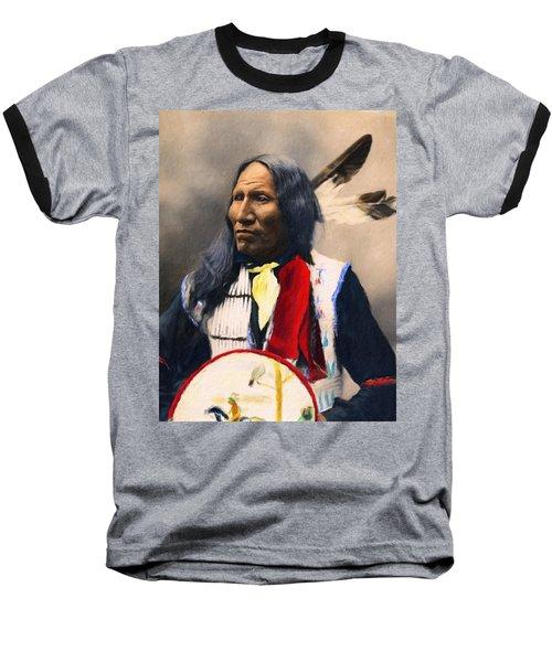 Sioux Chief Portrait Baseball T-Shirt