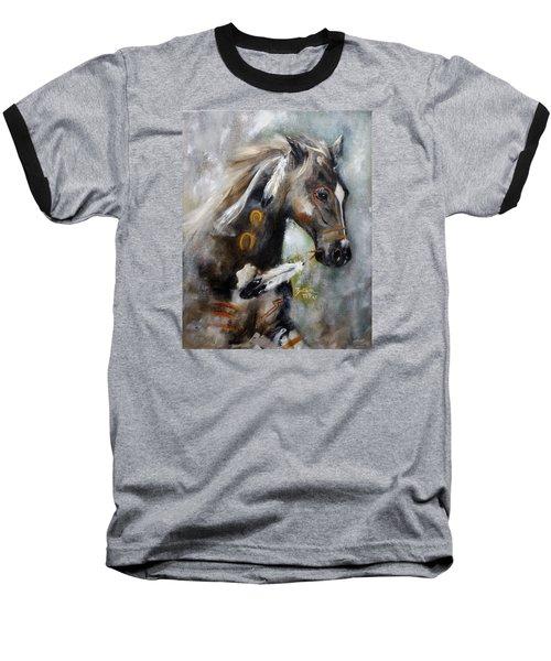 Sioux War Pony Baseball T-Shirt by Barbie Batson