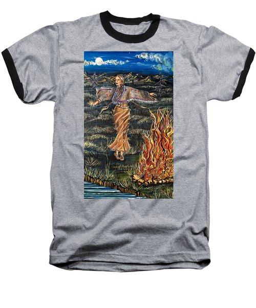 Sioux Woman Dancing Baseball T-Shirt