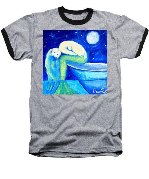 Siren Sea Baseball T-Shirt by Dawn Harrell