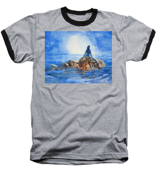 Baseball T-Shirt featuring the painting Siren Song by Marilyn Jacobson
