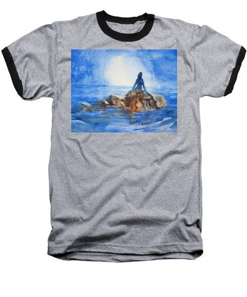 Siren Song Baseball T-Shirt by Marilyn Jacobson