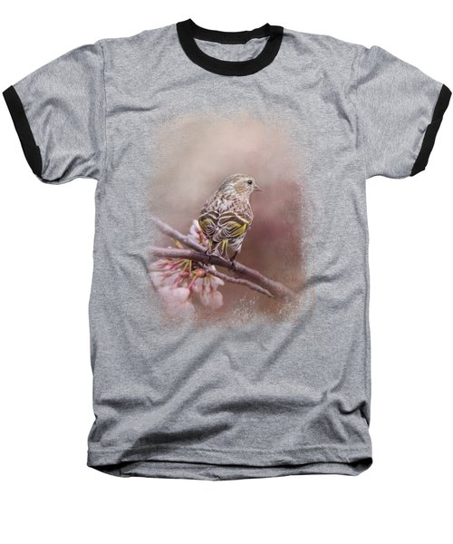 Siskin In The Garden Baseball T-Shirt by Jai Johnson