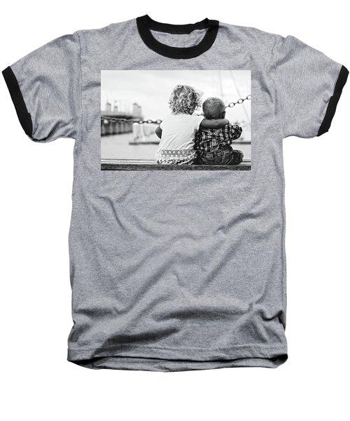 Sister And Brother Baseball T-Shirt by Thomas M Pikolin
