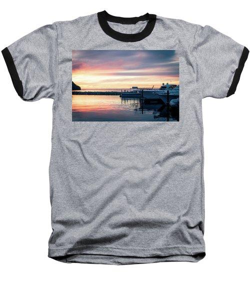 Sister Bay Marina At Sunset Baseball T-Shirt