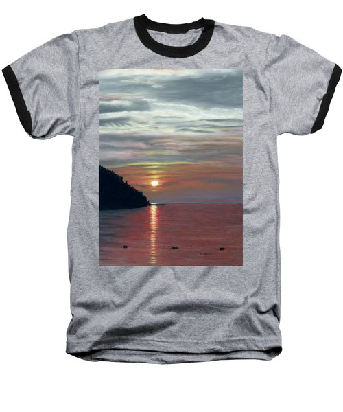 Sister Bay Sunset Baseball T-Shirt