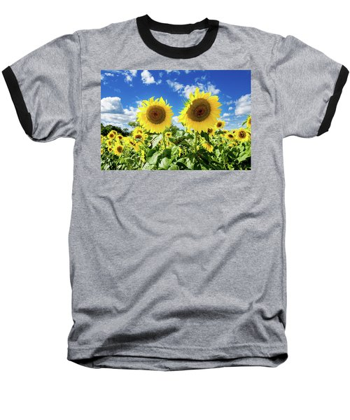 Baseball T-Shirt featuring the photograph Sisters by Greg Fortier