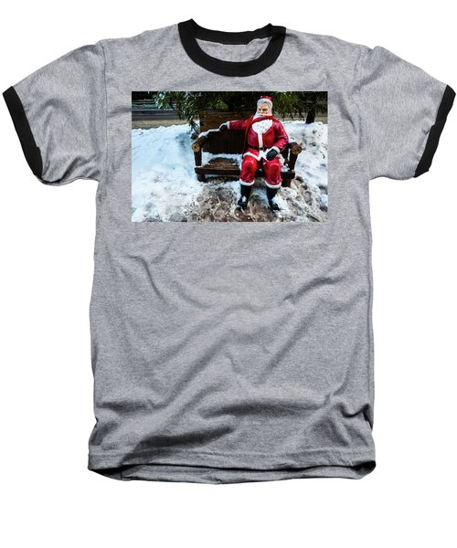 Sit With Santa Baseball T-Shirt