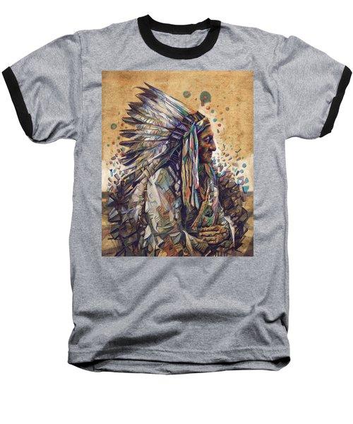 Sitting Bull Decorative Portrait 2 Baseball T-Shirt