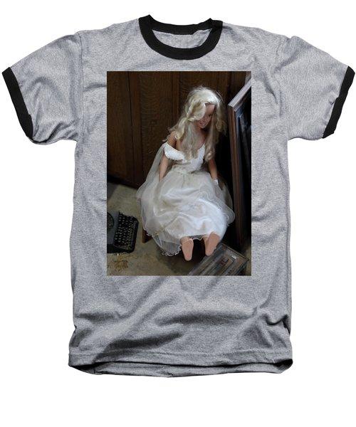 Baseball T-Shirt featuring the photograph Sitting Doll by Viktor Savchenko