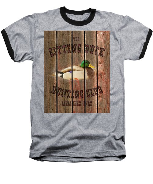 Sitting Duck Hunting Club Baseball T-Shirt