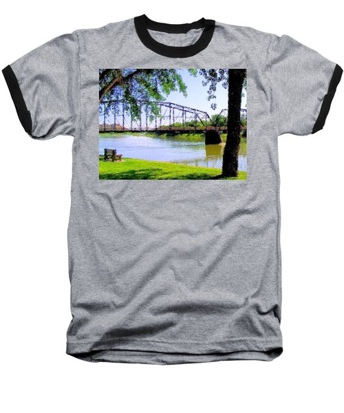 Baseball T-Shirt featuring the photograph Sitting In Fort Benton by Susan Kinney