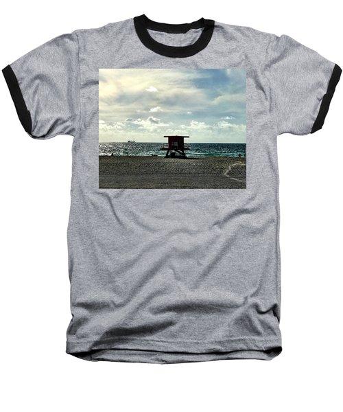 Sitting On The Beach Baseball T-Shirt