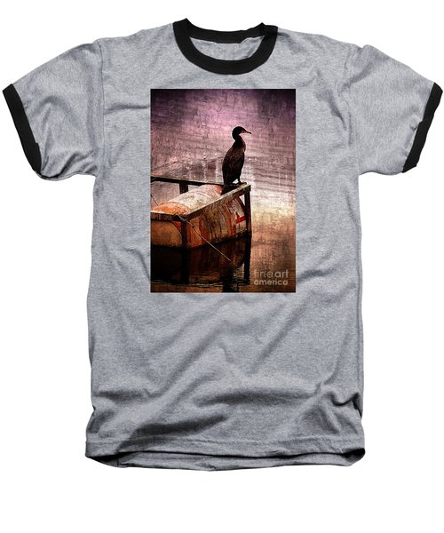 Sitting On The Dock Of The Bay Baseball T-Shirt by Clare Bevan