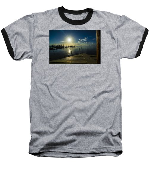 Sitting On The Dock Of The Bay Baseball T-Shirt by Kevin Cable