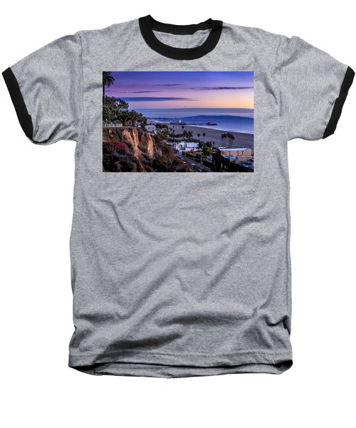 Sitting On The Fence - Santa Monica Pier Baseball T-Shirt