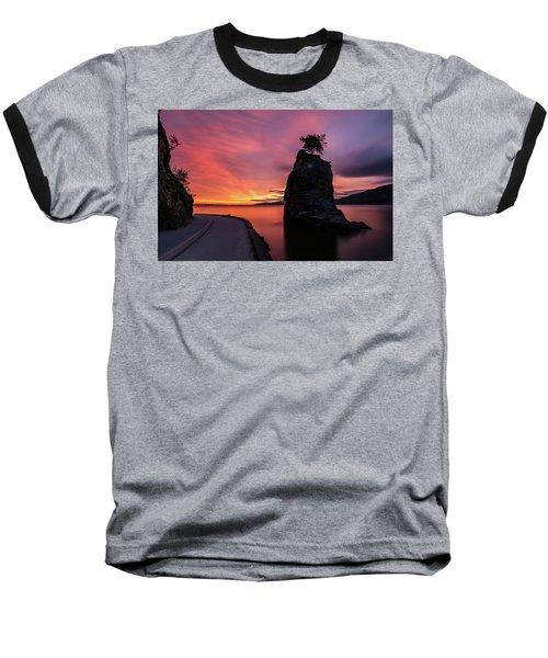 Baseball T-Shirt featuring the photograph Siwash Rock Along The Sea Wall by Pierre Leclerc Photography