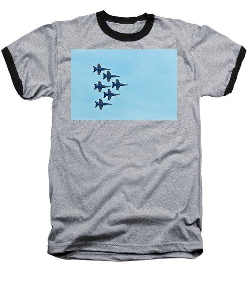 Six Blue Angels In The Clear Blue Sky Baseball T-Shirt