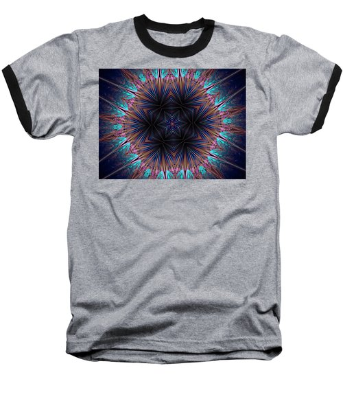 Six Petal Star Kaleidoscope Baseball T-Shirt