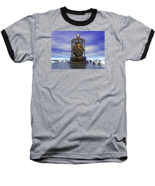 Baseball T-Shirt featuring the digital art Sixth Sense - Surrealism by Sipo Liimatainen