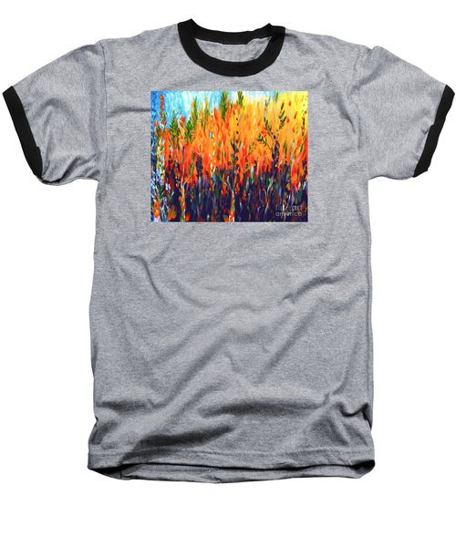 Baseball T-Shirt featuring the painting Sizzlescape by Holly Carmichael