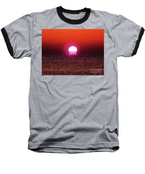 Baseball T-Shirt featuring the photograph Sizzling Sunrise by D Hackett