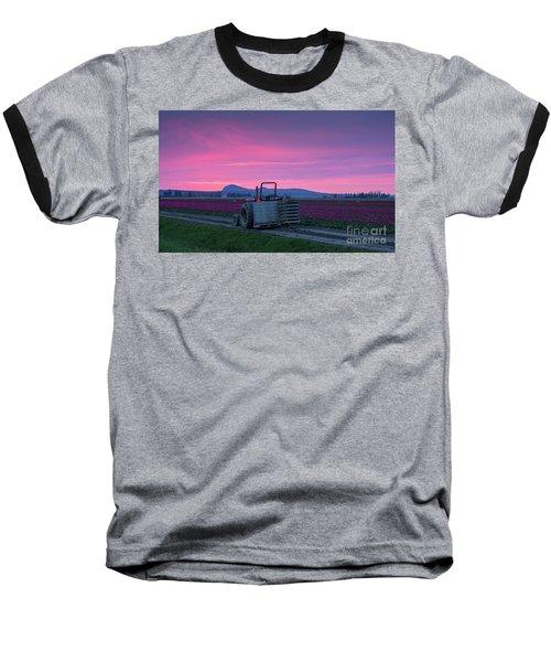 Baseball T-Shirt featuring the photograph Skagit Valley Dusk Calm by Mike Reid