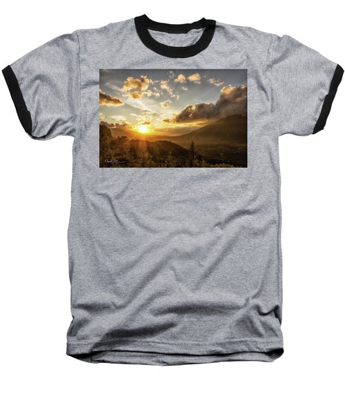 Skagit Valley Sunset Baseball T-Shirt