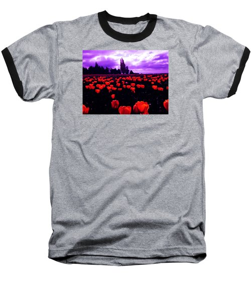 Skagit Valley Tulips Baseball T-Shirt by Eddie Eastwood