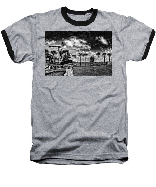 Skate Pushing The Boundries Baseball T-Shirt by Kevin Cable