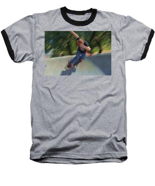 Skateboard Action Baseball T-Shirt