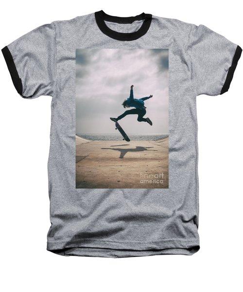 Skater Boy 003 Baseball T-Shirt